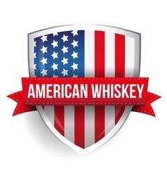American Whiskey ribbon on USA flag vector image