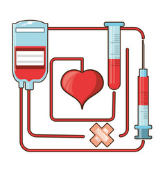 blood donation and transfusion tools vector image vector image