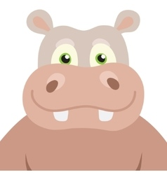 Cartoon Hippopotamus portrait vector image