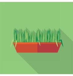 Digital green decorative grass vector image