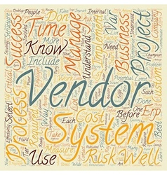 How to Select and Implement an ERP System text vector image