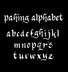 pahing alphabet typography vector image vector image
