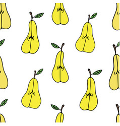 pattern with pears vector image vector image