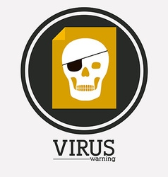 virus and security system design vector image vector image