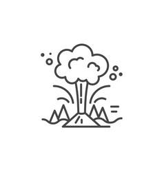 volcano line icon vector image