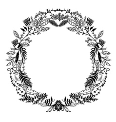 Hand Sketched Floral Frame vector image