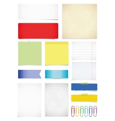 Paper set vector image vector image