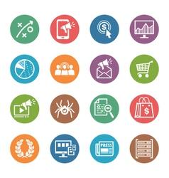 SEO Internet Marketing Icons Set 3 - Dot Series vector image vector image