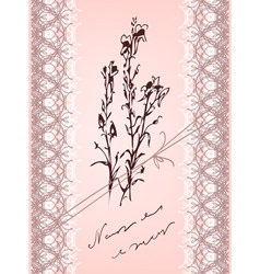 vintage flower and lace vector image vector image