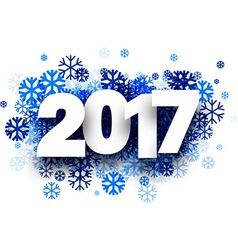 2017 New Year winter background vector image