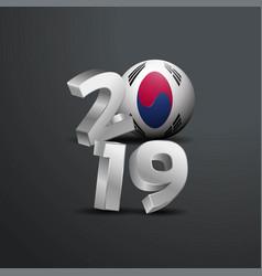 2019 grey typography with korea south flag happy vector