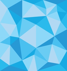 Abstract blue polygonal pattern on the wall vector image