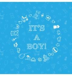Baby shower design over blue background vector