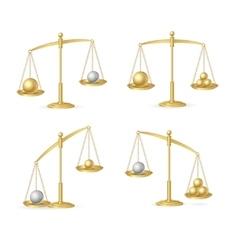 Balance Concept Set vector