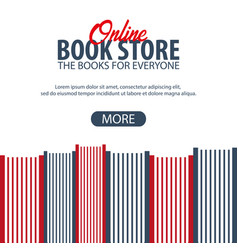 banner online book store stack of books vector image