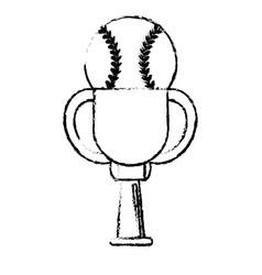 baseball award cup sport win vector image