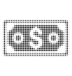black dot dollar banknote icon vector image