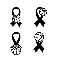 breast cancer basketball vector image