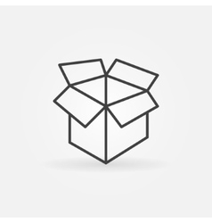 Carton box linear icon vector image