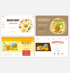 cartoon honey websites set vector image