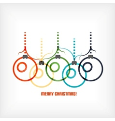 Christmas balls line art background vector