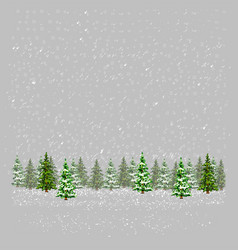 christmas greeting card tree pixelart vector image