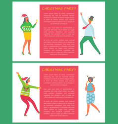 christmas party coworkers dancing corporate fest vector image