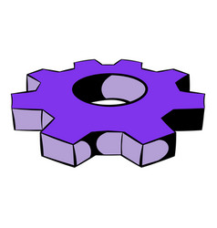 cog settings icon icon cartoon vector image