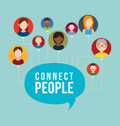 community with connect people vector image