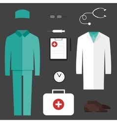 Complete set of medical clothes vector image