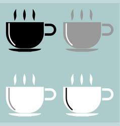 cup black grey black icon vector image