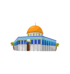 Dome of the rock in jerusalem symbol of israel vector