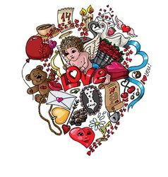 Doodle love vector