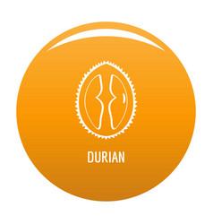 Durian icon orange vector