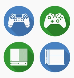 entertainment consoles ps4 and xbox vector image