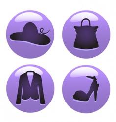 fashion icon vector image vector image