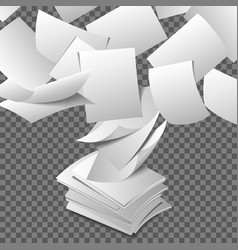 Flying paper sheets vector image