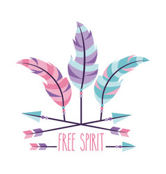 Free spirit cartoon scene vector