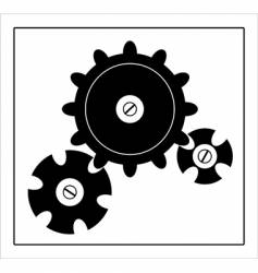 gearwheels background vector image