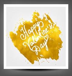 Golden banner happy Valentine day vector