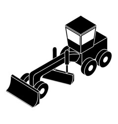 grader icon simple style vector image
