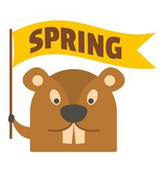 groundhog icon flat style vector image