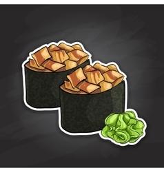Gunkan Spicy Unagi vector image