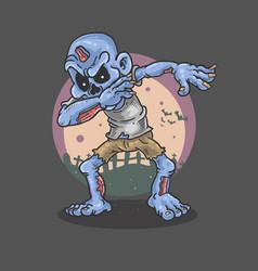 halloween zombie dance vector image