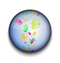 Hand prints app icon vector image