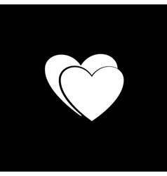 Heart couple white icon vector image