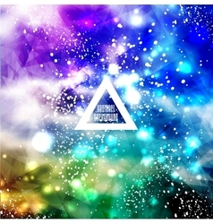 Hipster background made of triangles vector
