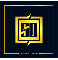 Initial letter sd logo template design vector