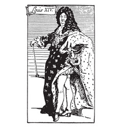 King louis xiv vintage vector