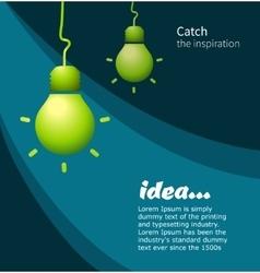 Lamp symbol idea vector image